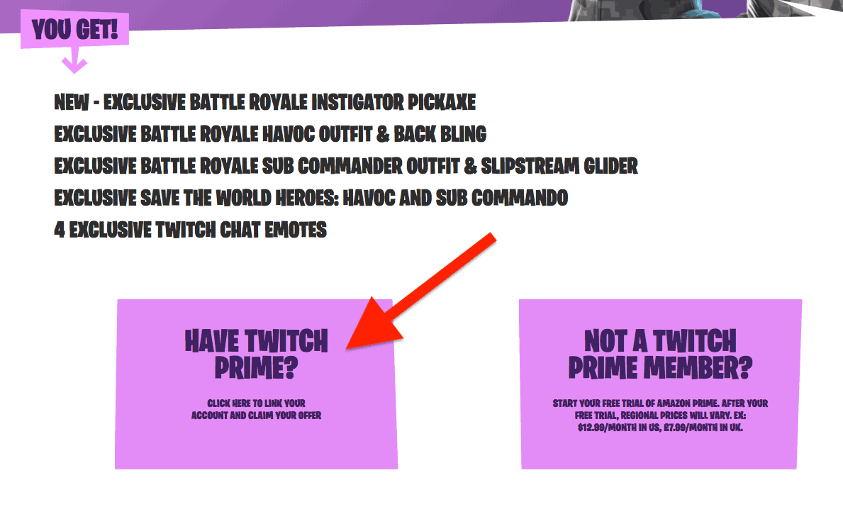 epic games link twitch prime account