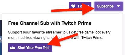 free subscription twitch