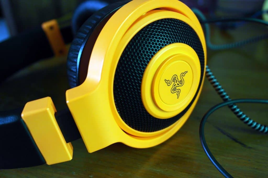razer kraken gaming headset yellow