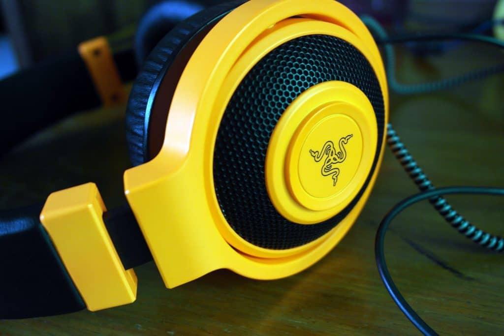 razer kraken gaming headset yellow